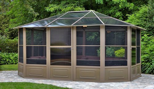 Patio enclosures enhance your home and your life the garden and patio home guide - Build rectangular gazebo guide models ...