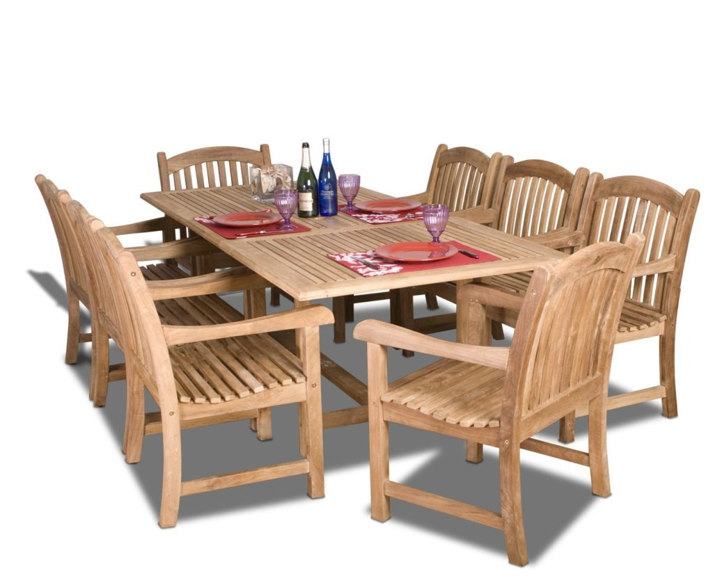 Teak Patio Furniture The Garden And Patio Home Guide - Teak patio table with leaf