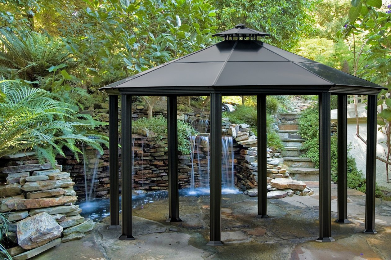 everything you need to know about gazebos the garden and patio home guide. Black Bedroom Furniture Sets. Home Design Ideas