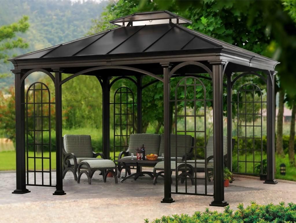Everything You Need To Know About Gazebos The Garden  : hard top gazebo 1024x773 from www.gardenandpatiohomeguide.com size 1024 x 773 jpeg 188kB