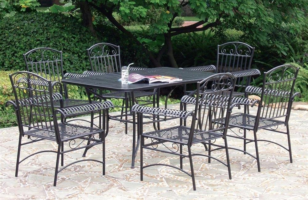 The timeless elegance of wrought iron patio furniture for Rod iron patio furniture