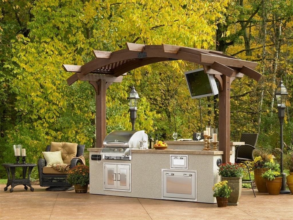 The garden and patio home guide for Pergola outdoor kitchen