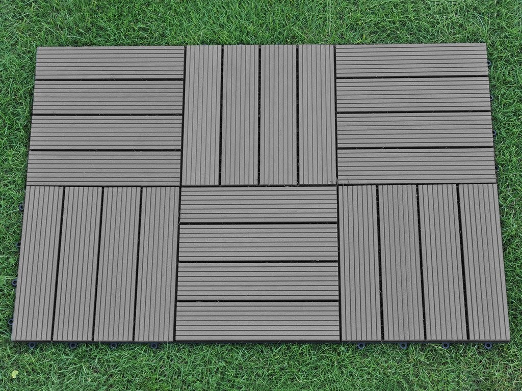 Teak outdoor patio decking tiles modern patio outdoor for Garden decking squares