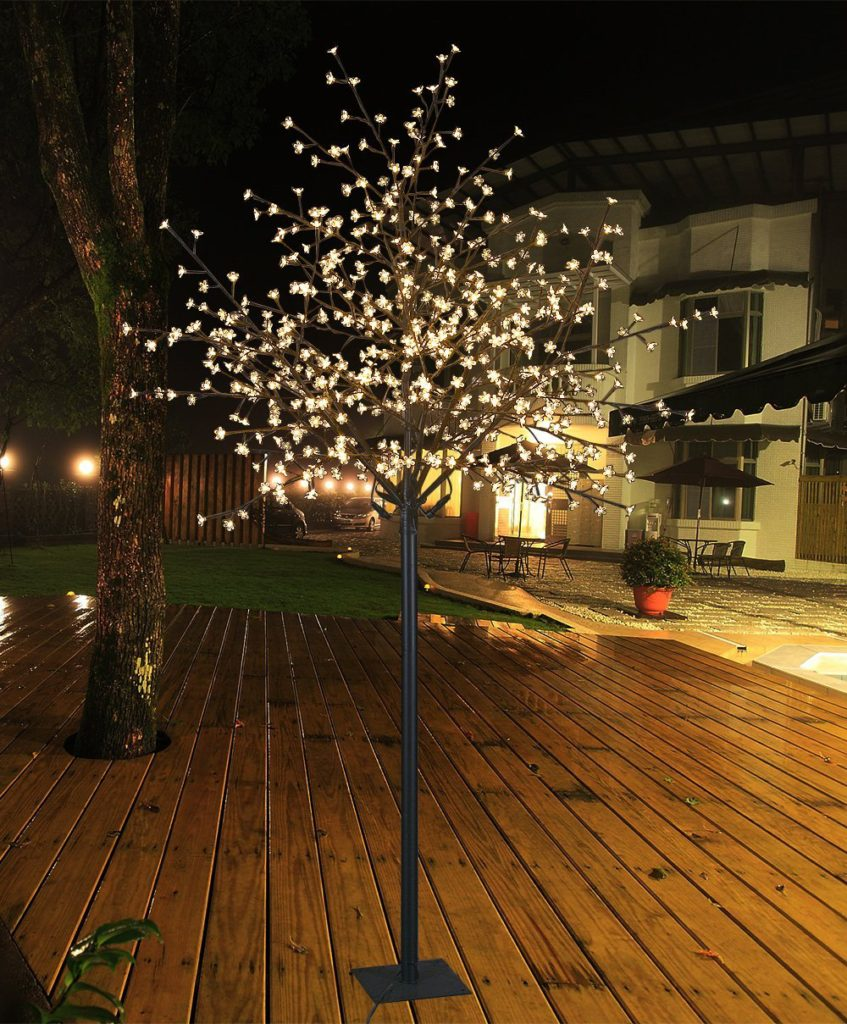 Led cherry blossom tree the garden and patio home guide adding lights to a real tree can be a big pain not only do need a tree thats the right size and shape but youll also need to care for it arubaitofo Choice Image