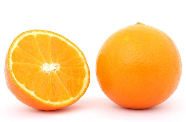 Orange Peels In The Garden